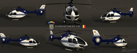 3d model eurocopter ec-135 vs romanian