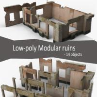 3d model modular ruins