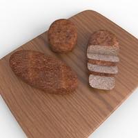 3d model of bread loaf