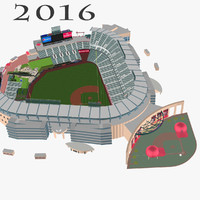 angel stadium baseballs 3d model