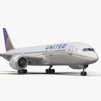 3d model boeing 787-8 dreamliner united