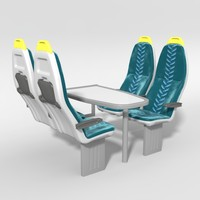 train seat 3d model