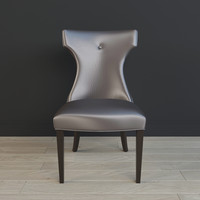 3d model of wynter armless chair