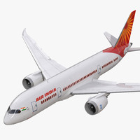 3d model of boeing 787 8 air india