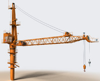 3d model crane construction oil rigs