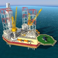 Jack up oil drilling rig
