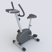 max low-poly stationary spinning bike