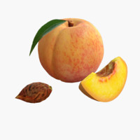 obj peach realistic real
