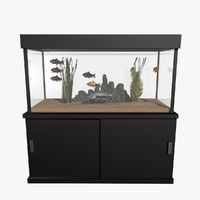 fresh aquarium goldfishes catfish 3d c4d