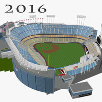 3d dodger stadium seats model