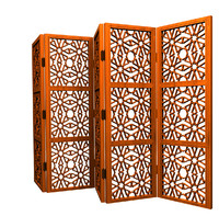 3d islamic folding screen