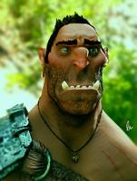 3d model orc creature
