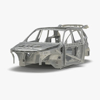 3d model suv frame rigged