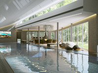 Interior modern swimming pool