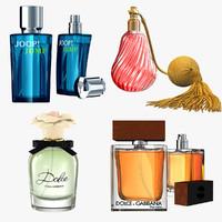 3d obj perfumes modeled