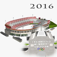 3d los angeles memorial coliseum