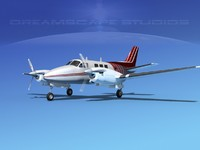 3ds beechcraft king air c-90