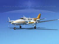 3d model beechcraft king air c-90