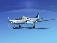 3d model of beechcraft king air c-90