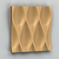 decorative wall panel obj