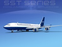 3d dxf 707-320 boeing 707