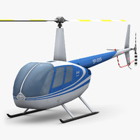 obj low-poly robinson r44