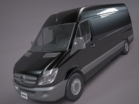 commercial van sprinter 3d model