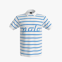3d model polo shirt men