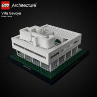 3d lego villa savoye le corbusier