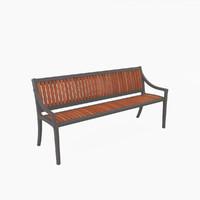 3d model outdoor cordia bench