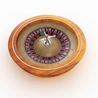 3d model roulette modeled