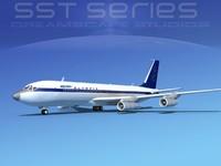 3d model 707-320 boeing 707