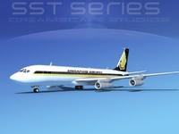 3d model 707-320 boeing 707 airliner