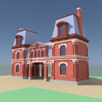 vintage building 3d model