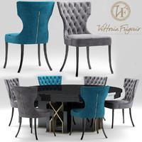 table chair vittoriafrigerio 3d max