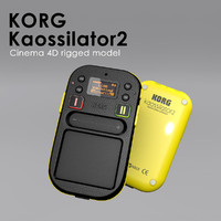 kaossilator 2 rigged 3d 3ds