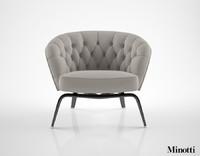3d model minotti winston armchair