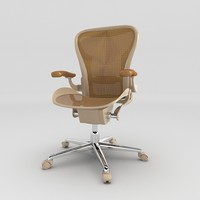 3d brown arm chair
