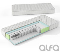 3d mattress pocket spring model