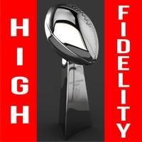 football trophy 3d max