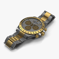 rolex daytona tone white 3d model