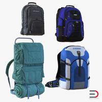 backpacks 4 3d model