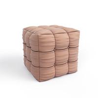 pouf marvelous designer 3d model