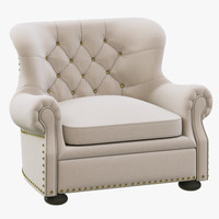 3d model restoration hardware churchill upholstered