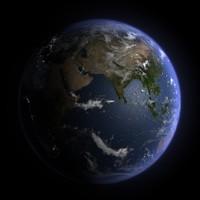 realistic planet earth 3d model