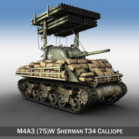 m4a3 sherman calliope m4 3d model