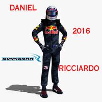 daniel ricciardo 2016 3d max