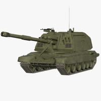 2s19 tanks s msta 3d max