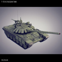 3d model of t-72 b3 russian battle tank