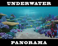 3d cartoon underwater scene model